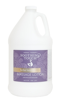 Soothing Touch Herbal Lavender Massage Lotion - Gallon
