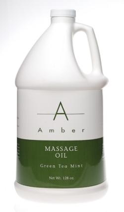 Amber Massage Oil Green Tea Mint - Gallon