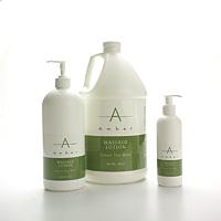 Amber Massage Lotion Green Tea Mint - Gallon
