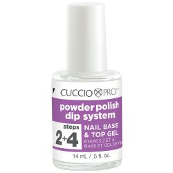 Cuccio Pro Powder Polish Dip System Step 2 + 4 _ Nail Base & Top Gel .5 oz
