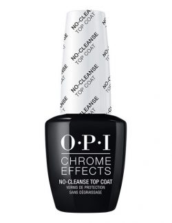 OPI No Cleanse Topcoat - Gelcolor & Chrome Effects Powder