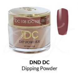 DND DC Dip Powder 108 BARN RED