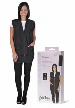 Betty Dain Glitz Stylist Vest - Black -Style 1279 (Small)