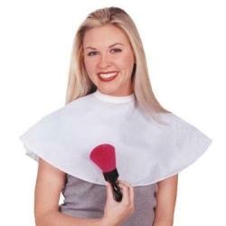 Scalpmaster Nylon Make-Up Cape- White - Style 3025