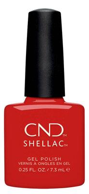 CND Shellac Gel Devil Red